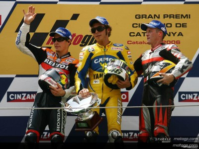 Rossi takes Catalunya victory; First corner incident forces restart