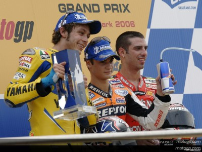 Pedrosa and Rossi finally share podium