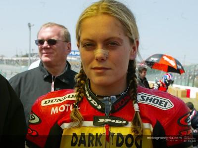 Katja Poensgen en visite au Sachsenring