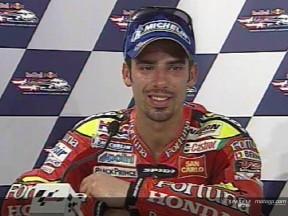 Melandri takes his third podium place in a row