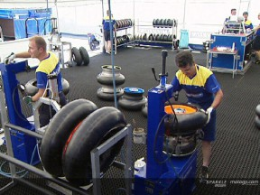 Michelin and MotoGP tyre logistics