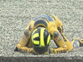 2006 im Rückblick: Großer Sturz für Rossi in Assen