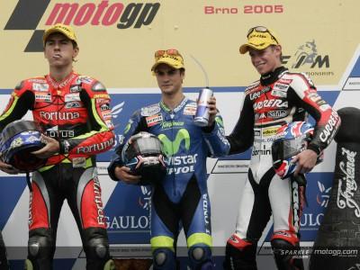 Brno 2005: Pedrosa non scende dal podio