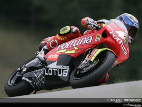 Lorenzo on provisional 250cc pole