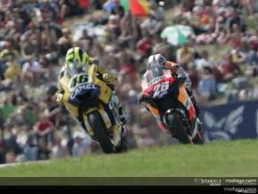 Rossi und Pedrosa´s Kampf in Brno
