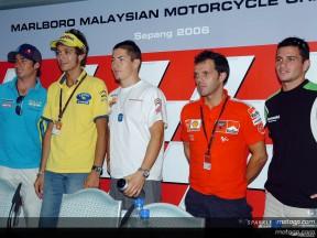 Rueda de prensa GP Marlboro de Malasia