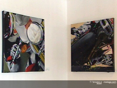 MotoGP artwork on display in Estoril