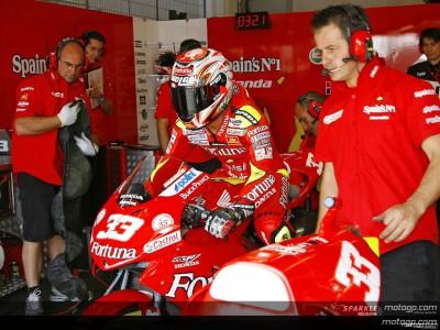 Melandri et Elias sur Bridgestone avec le team Gresini