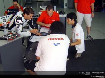 Checa valora sus progresos sobre la nueva Honda
