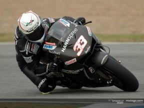 Melandri happy with wet 800cc debut