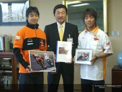 Irmãos Aoyama recebidos pelo Presidente da Câmara local