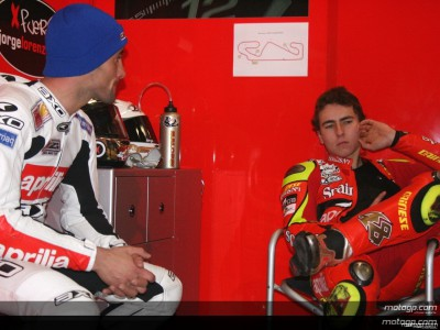 Lorenzo Working With New Aprilia Chassis