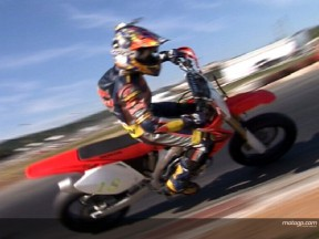 Red Bull MotoGP Academy trio test on Supermotards