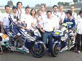 Honda Gresini presenta il team e le nuove Honda gommate Bridgestone