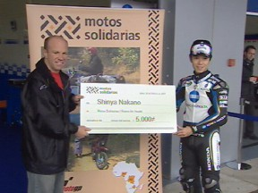 Nakano donates 5000 euros to Riders For Health