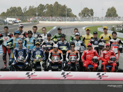 MotoGP grid gather for official photo