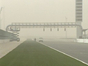 First day of 125cc testing cancelled due to sandstorm