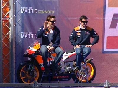 Vorstellung der Repsol Honda Teams auf den Strassen von Madrid