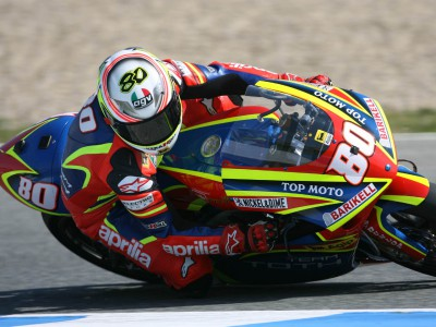 Barbera in front in 250cc first practice