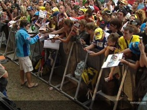 Le Mans crowd enjoy MotoGP meet and greet