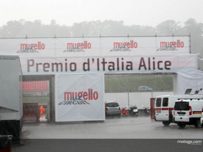 Mugello hit by torrential downpour
