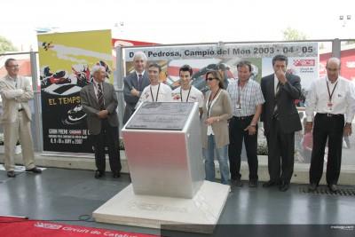 Dani Pedrosa inscribe su nombre en la Avenida de los Campeones