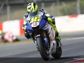 Rossi holt sich die Pole in Katalonien vor einem tapferen De Puniet