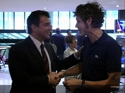 Rossi disfruta del Barça-Espanyol