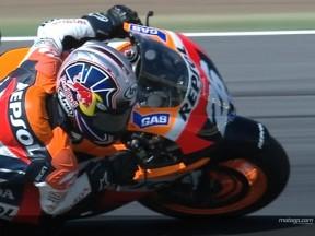 Dani Pedrosa's riding style