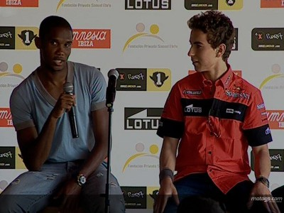 Lorenzo meets Etoo at charity presentation