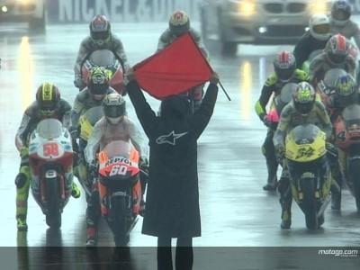 Dovizoso vence bajo la lluvia