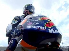 Lorenzo displays power with qualifying run