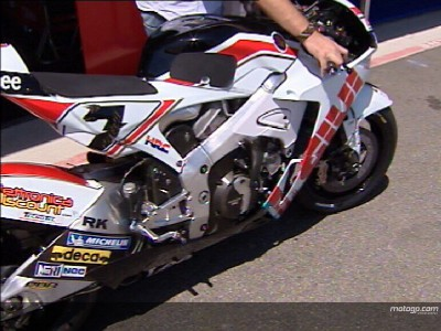 Melandri and Checa pleased with RC212V modifications