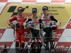 MotoGP views from the Sachsenring podium