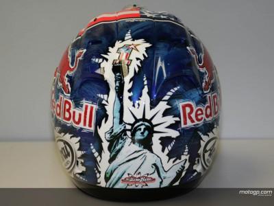 Hayden unveils special Laguna helmet