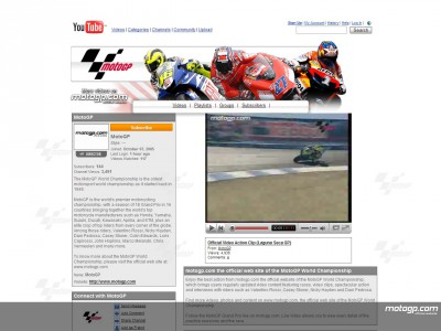 Il MotoGP online su YouTube
