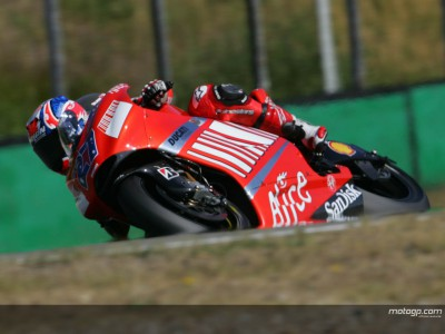 Stoner positive whilst Capirossi rues GP tyre choice after testing