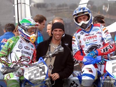 Melandri, spectateur au GP de Grande Bretagne de Motocross