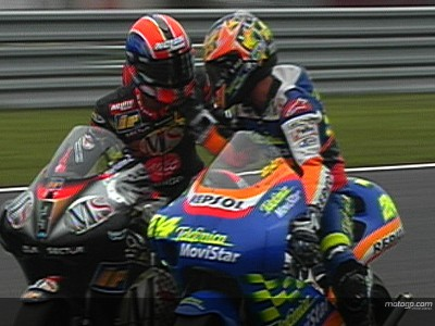 Elias and Melandri's 2002 Motegi duel
