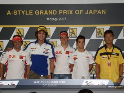 The MotoGP press conference at Motegi