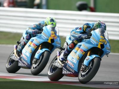 Suerte dispar para el trío de pilotos Suzuki en Motegi