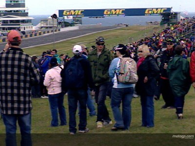 Los fans australianos invaden Phillip Island