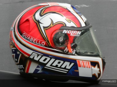 Stoner and Rossi unveil new helmet designs
