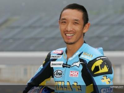 Tridente d'attacco per la Suzuki con Aoki sulla Suzuki 2008 in Malesia