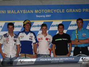 Les stars du MotoGP arrivent à Sepang