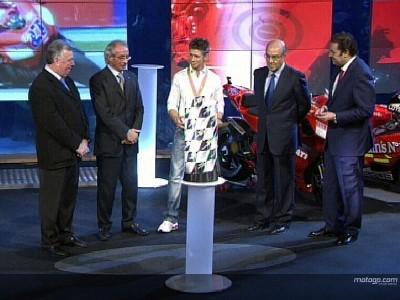 Champions receive prizes at FIM MotoGP Awards