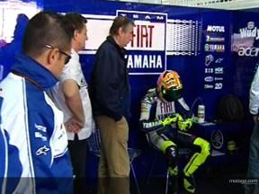 Corrida azarada para Rossi