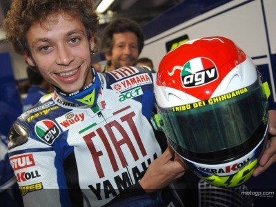Rossi heart helmet put up for auction for worthy cause