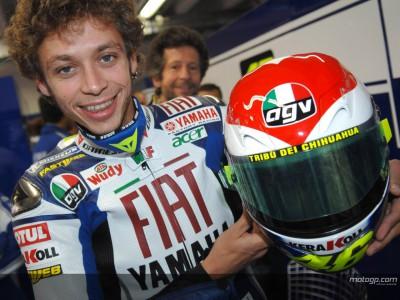 Rossi's Helm im Herz-Design wird versteigert