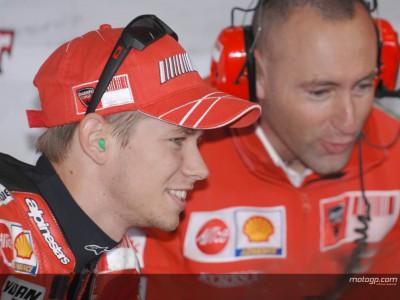 Il duo Ducati felice dopo lesordio della GP08